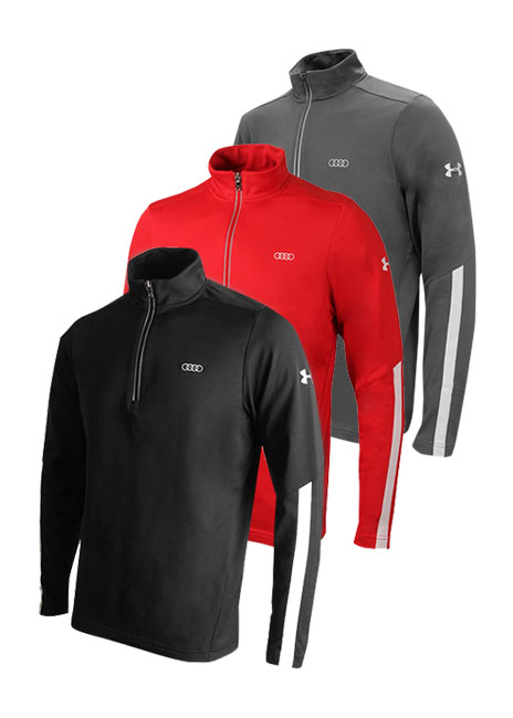 Audi Collection Under Armour 1 4 Zip Pullover Mens